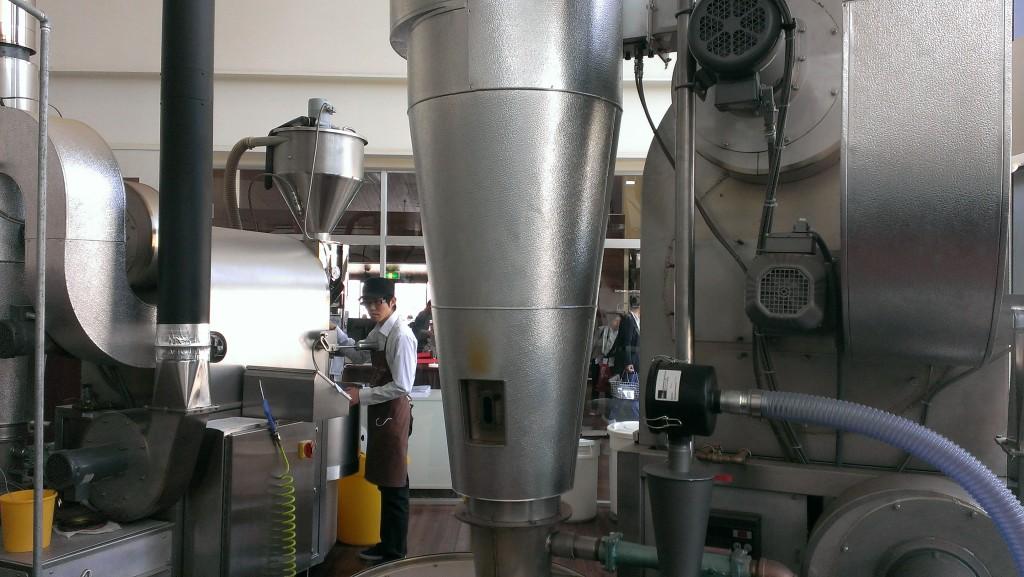 世界の2台の焙煎機
